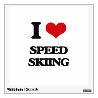 I Love Speed Skiing Wall Decals