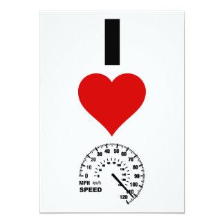 I Love Speed (Vertical) Card