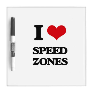 I love Speed Zones Dry-Erase Boards