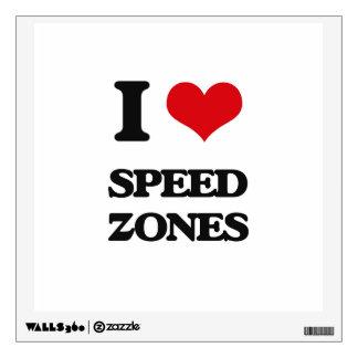 I love Speed Zones Room Sticker