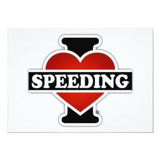 I Love Speeding Card