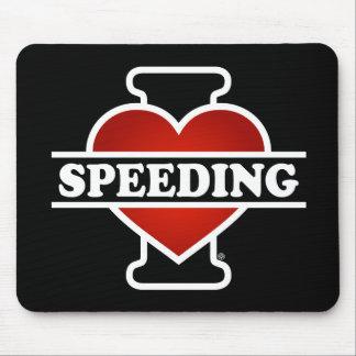I Love Speeding Mouse Pad