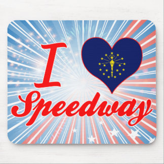I Love Speedway Indiana Mouse Pads
