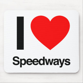i love speedways mouse pad