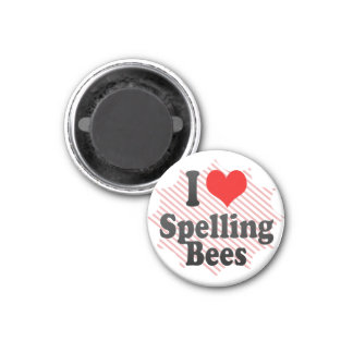 I love Spelling Bees 1 Inch Round Magnet