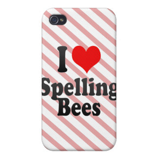 I love Spelling Bees Cover For iPhone 4
