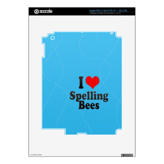 I love Spelling Bees iPad 3 Skin