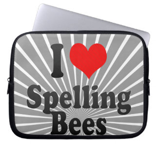 I love Spelling Bees Laptop Sleeves