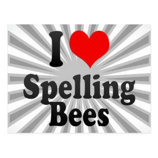 I love Spelling Bees Post Cards