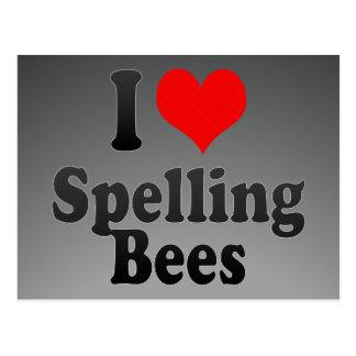 I love Spelling Bees Postcard