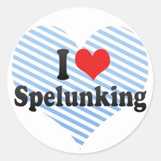 I Love Spelunking Sticker