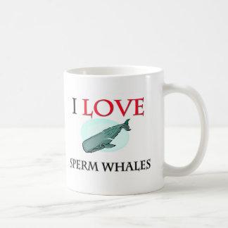I Love Sperm Whales Classic White Coffee Mug