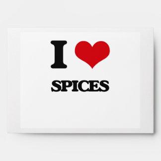 I Love Spices Envelopes