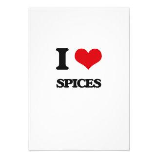 I Love Spices Personalized Invitation