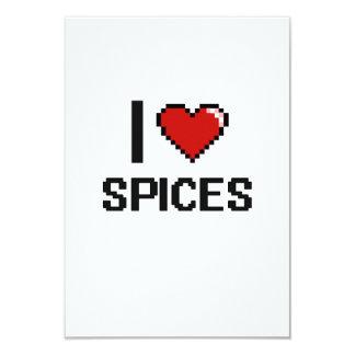 "I Love Spices 3.5"" X 5"" Invitation Card"