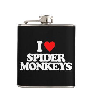 I LOVE SPIDER MONKEYS HIP FLASK