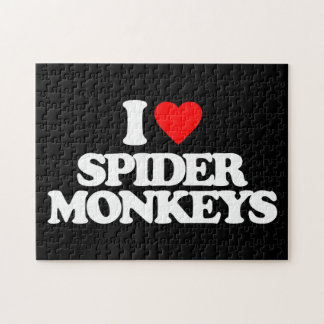 I LOVE SPIDER MONKEYS JIGSAW PUZZLES