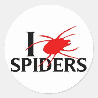 I Love Spiders Classic Round Sticker