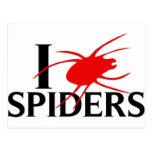 I Love Spiders Postcards