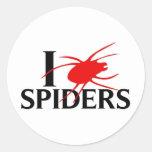 I Love Spiders Round Sticker