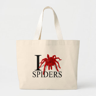 I Love Spiders Tote Bags