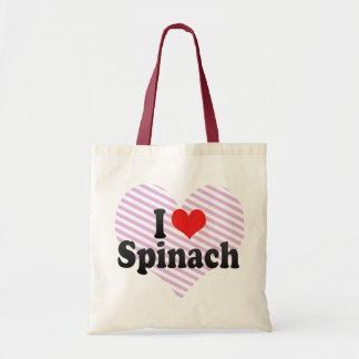 I Love Spinach Budget Tote Bag
