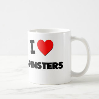 I love Spinsters Classic White Coffee Mug