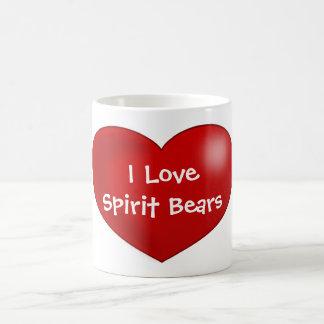 I Love Spirit Bears Classic White Coffee Mug