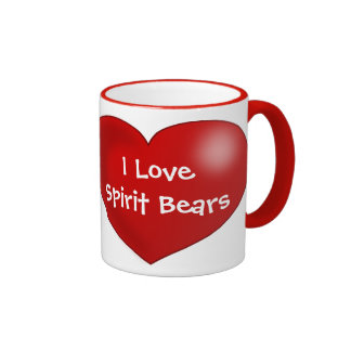 I Love Spirit Bears Ringer Coffee Mug