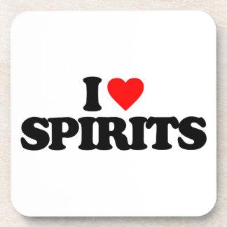 I LOVE SPIRITS BEVERAGE COASTER