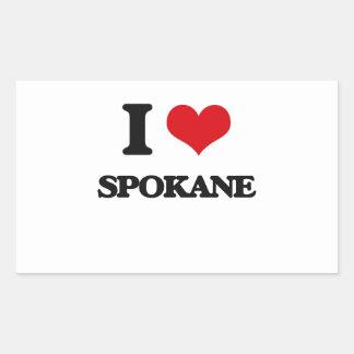 I love Spokane Rectangle Stickers