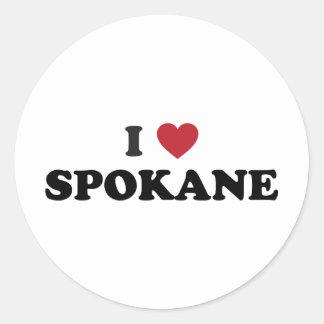I Love Spokane Washington Sticker
