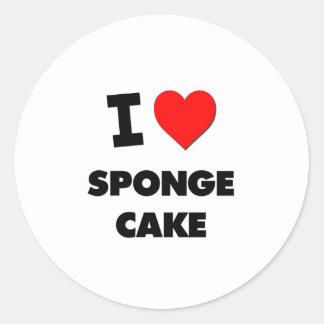 I Love Sponge Cake ( Food ) Stickers