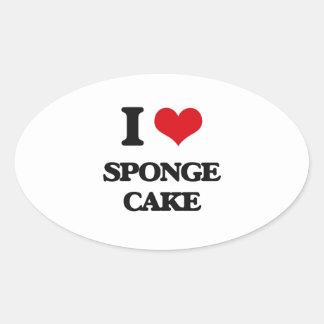 I Love Sponge Cake Stickers