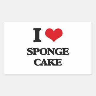 I Love Sponge Cake Rectangular Sticker