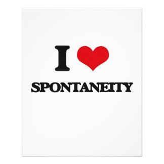 I love Spontaneity Personalized Flyer