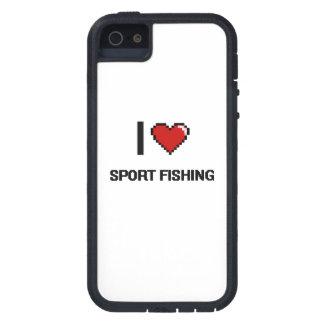 I Love Sport Fishing Digital Retro Design iPhone 5 Cover