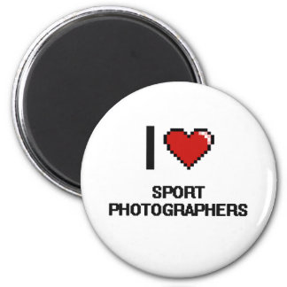 I love Sport Photographers 2 Inch Round Magnet