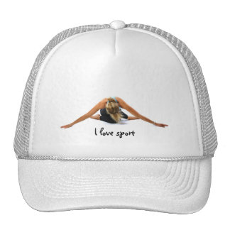 I love sport trucker hat