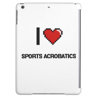 I Love Sports Acrobatics Digital Retro Design Cover For iPad Air