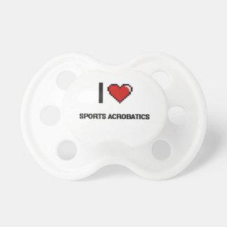 I Love Sports Acrobatics Digital Retro Design BooginHead Pacifier
