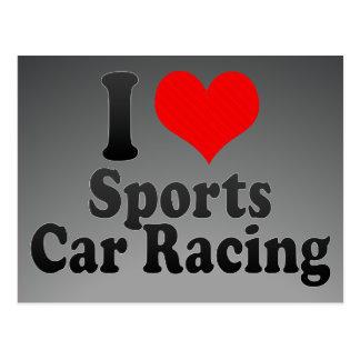 I love Sports Car Racing Postcards