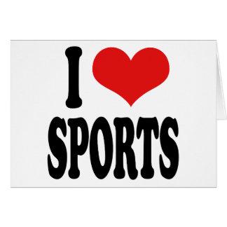 I Love Sports Card