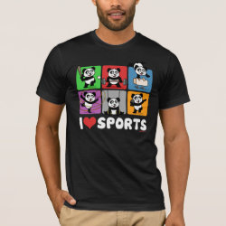 Men's Basic American Apparel T-Shirt with I Love Sports design