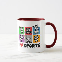 Combo Mug with I Love Sports design
