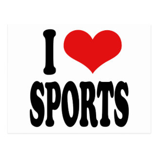 I Love Sports Postcard