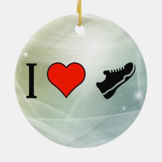 I Love Sports Shoes Ceramic Ornament