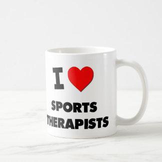 I Love Sports Therapists Classic White Coffee Mug
