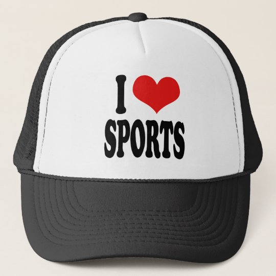 I Love Sports Trucker Hat