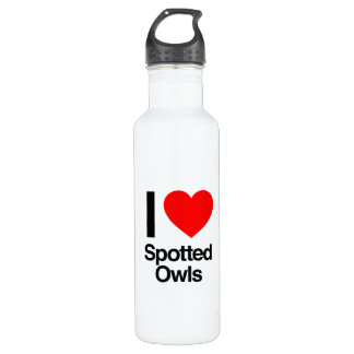 i love spotted owls 24oz water bottle